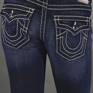 True Religion Brand Jeans with swarvoski crystals